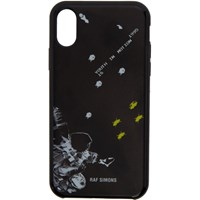 Raf Simons Black 'Youth In Motion' Iphone X Case
