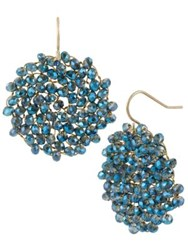 Kenneth Cole Gemstone Pendant Drop Earrings Blue