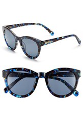 Women's Lilly Pulitzer 'Hartley' 52Mm Polarized Sunglasses Blue Tortoise