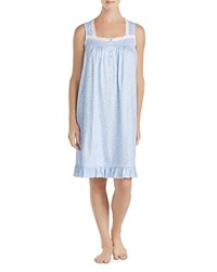 Eileen West Sleeveless Short Gown Blue White