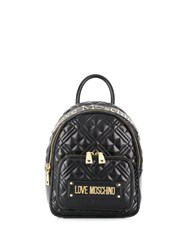 Love Moschino Quilted Logo Plaque Backpack 60