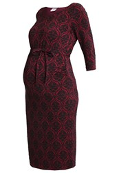 Mama Licious Mljaca Jersey Dress Rio Red Dark Red