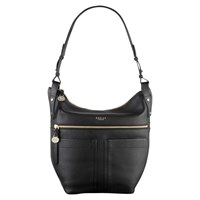 Radley Kensal Leather Hobo Bag Black