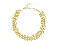 Kenneth Jay Lane 12 Gold Dog Collar With 4 Chain Extender Gold Necklace