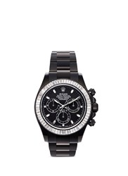 Mad Collections Rolex Cosmograph Daytona Oyster Perpetual Diamond Watch Black