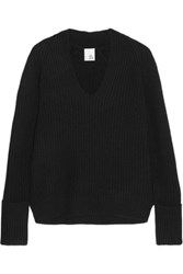 Iris And Ink Ribbed Cashmere Sweater Black