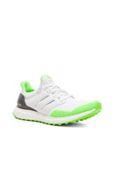 Adidas X Kolor Ultra Boost Shoes In White Green Neon