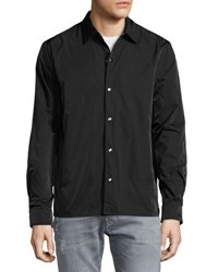 Cheap Monday Nylon Snap Front Shirt Black