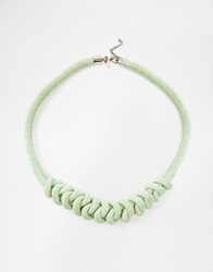 Selected Femme Dede Cord Collar Necklace Green