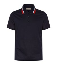 Burberry Knitted Collar Polo Shirt Male Navy