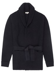 Reiss Macey Belted Cardigan Navy