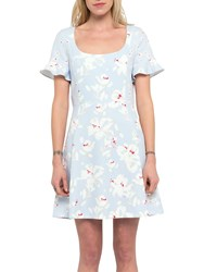 French Connection Alba Scoop Neck Dress Sea Breeze