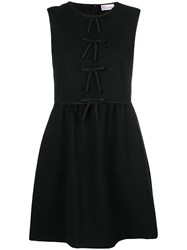 Red Valentino Bow Embellished Mini Dress Black