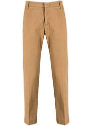 Entre Amis Tailored Chino Trousers Brown