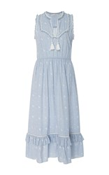 Ulla Johnson Maelle Sleeveless Midi Dress Light Blue