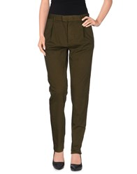 H Lls B Lls Trousers Casual Trousers Women Military Green