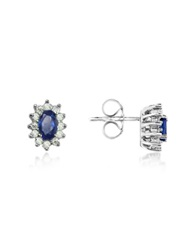 Incanto Royale Sapphire And Diamond 18K Gold Earrings Silver