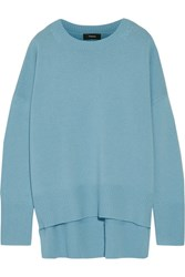 Theory Karenia Cashmere Sweater Light Blue