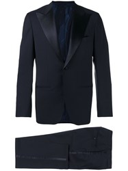 Kiton Single Breasted Suit Blue