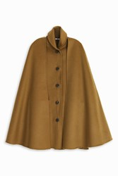 Rosetta Getty Face Cape Coat Brown
