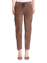 Eleventy Suede Drawstring Pants Chocolate