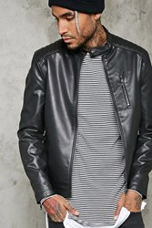 Forever 21 Ribbed Moto Jacket Black