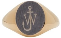 J.W.Anderson Gold And Silver Signet Ring