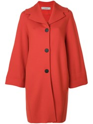 D.Exterior Cape Style Coat Women Polyester Wool M Red