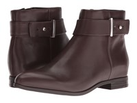 Nine West Objective Dark Brown Leather Women's Boots