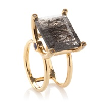 Jayce Wong Rutilated Quartz Cocktail Ring Gold