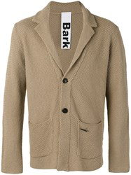 Bark Classic Blazer Men Cotton M Nude Neutrals