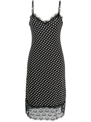 Michael Michael Kors Dotted Print Dress Black