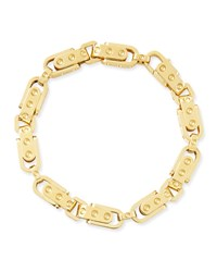 Pois Moi 18K Yellow Gold Round Link Bracelet Roberto Coin Red