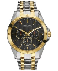 Bulova Men's Two Tone Stainless Steel Bracelet Watch 43Mm 98C120