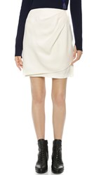 3.1 Phillip Lim Draped Wrap Skirt Antique White