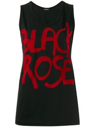 Ann Demeulemeester Graphic Print Tank Top Black