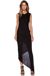 Shades Of Grey Asymmetric Maxi Dress Black