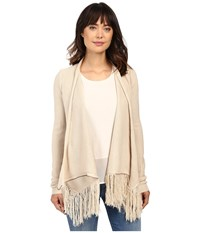 Brigitte Bailey Pippa Cardigan Sweater Oatmeal Women's Sweater Brown