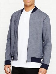 Aquascutum London Kris Jersey Bomber Jacket Navy