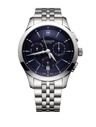 Victorinox Stainless Steel Chronograph Bracelet Watch Blue