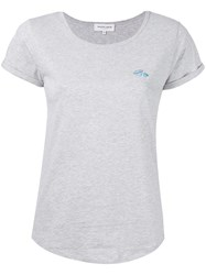 Maison Labiche Embroidered Diamond T Shirt Women Cotton M Grey