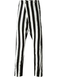 Barbara I Gongini Striped Drop Crotch Pants Black