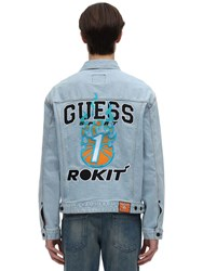 Guess Rokit Basketball Denim Jacket Blue