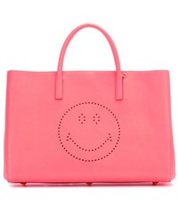 Anya Hindmarch Ebury Maxi Smiley Leather Shopper Orange