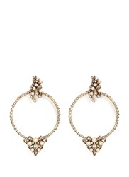 Erickson Beamon 'Together Forever' Gold Vermeil Swarovski Crystal Hoop Earrings Metallic