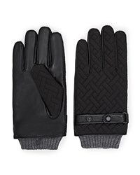 Ted Baker Cross Hatch Quilted Gloves Black