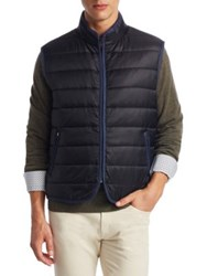 Saks Fifth Avenue Collection Quilted Zippered Vest Black Blue Wine Navy