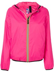 K Way Le Vrai Claudette Jacket Pink And Purple
