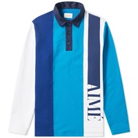 Aime Leon Dore French Terry Logo Rugby Shirt Blue