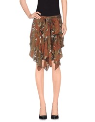 Edun Knee Length Skirts Rust